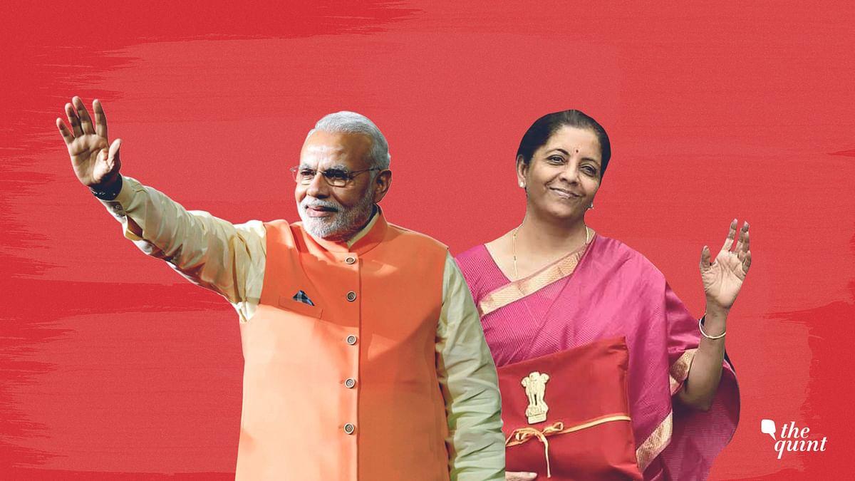 Image of Finance Minister Nirmala Sitharaman (R) and PM Modi used for representational purposes.