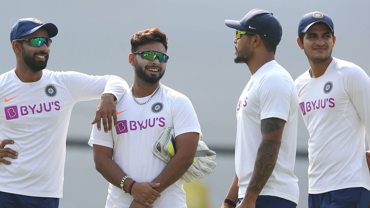 Shubman Gill (extreme right) had a good net session on Thursday and might be asked to open the innings  if Shaw is unable to make it.