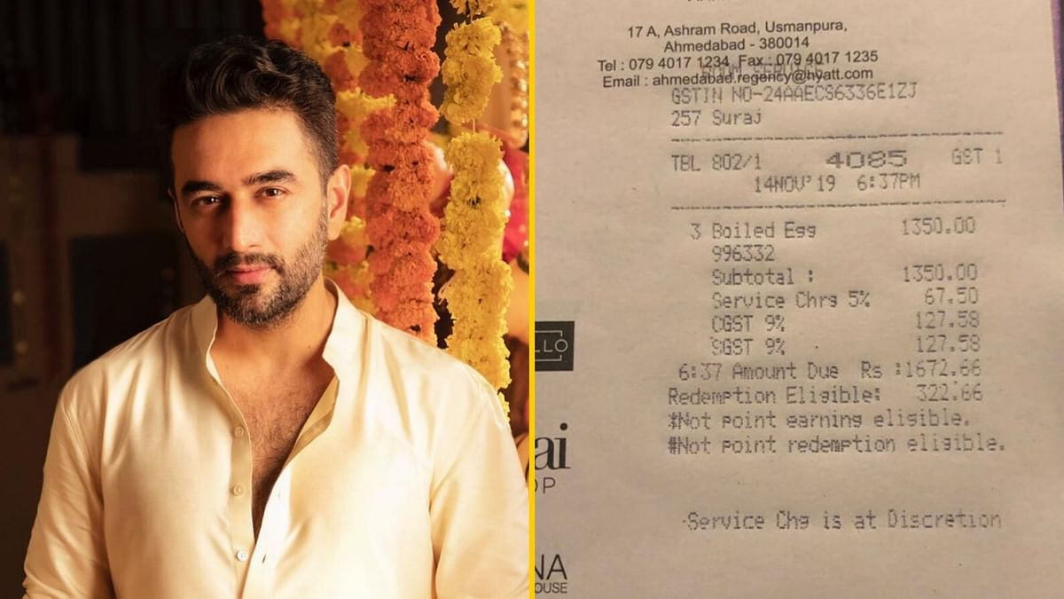 Shekhar Ravjiani says he was charged an exorbitant amount for eggs at a five-star hotel.