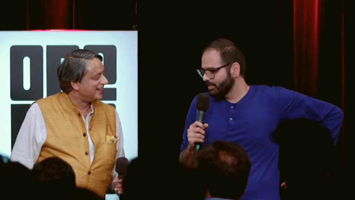 "Tharoor's comedy mentor for the show 'One Mic Stand' was troll-proclaimed ""anti-national"" and secret-Modi-fanboy-who-doesn't-admit-it, Kunal Kamra."
