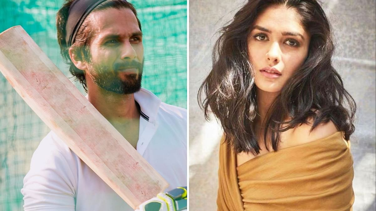 Mrunal Thakur will share screen space with Shahid in <i>Jersey</i>.