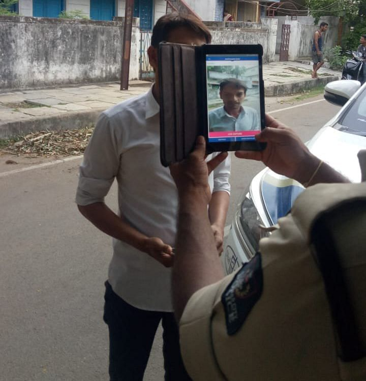 In 2018, the Hyderabad Police integrated  facial recognition system to their mobile application TS-COP.