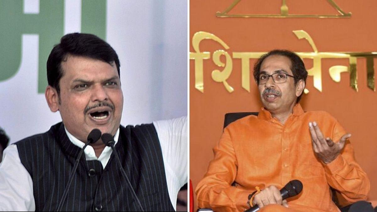 Maharashtra Chief Minister Uddhav Thackeray and his former ally Devendra Fadnavis of the BJP Party.