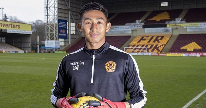 Dheeraj Singh trained with Scotland's Motherwell FC for two months.