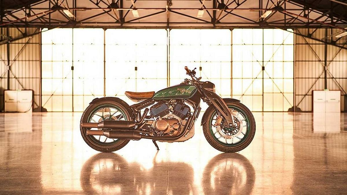Image of Royal Enfield's 835 twin concept, used for representation.