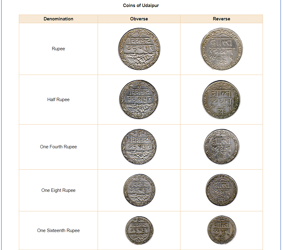 Screenshot of the representational coin of Udaipur
