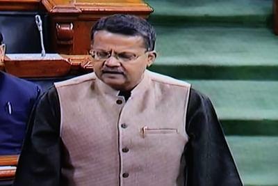 New Delhi: Biju Janata Dal (BJD) MP Bhartruhari Mahtab speaks in Lok Sabha during the Budget session of Parliament, in New Delhi on Feb 4, 2019. (Photo: IANS/LSTV Grab)