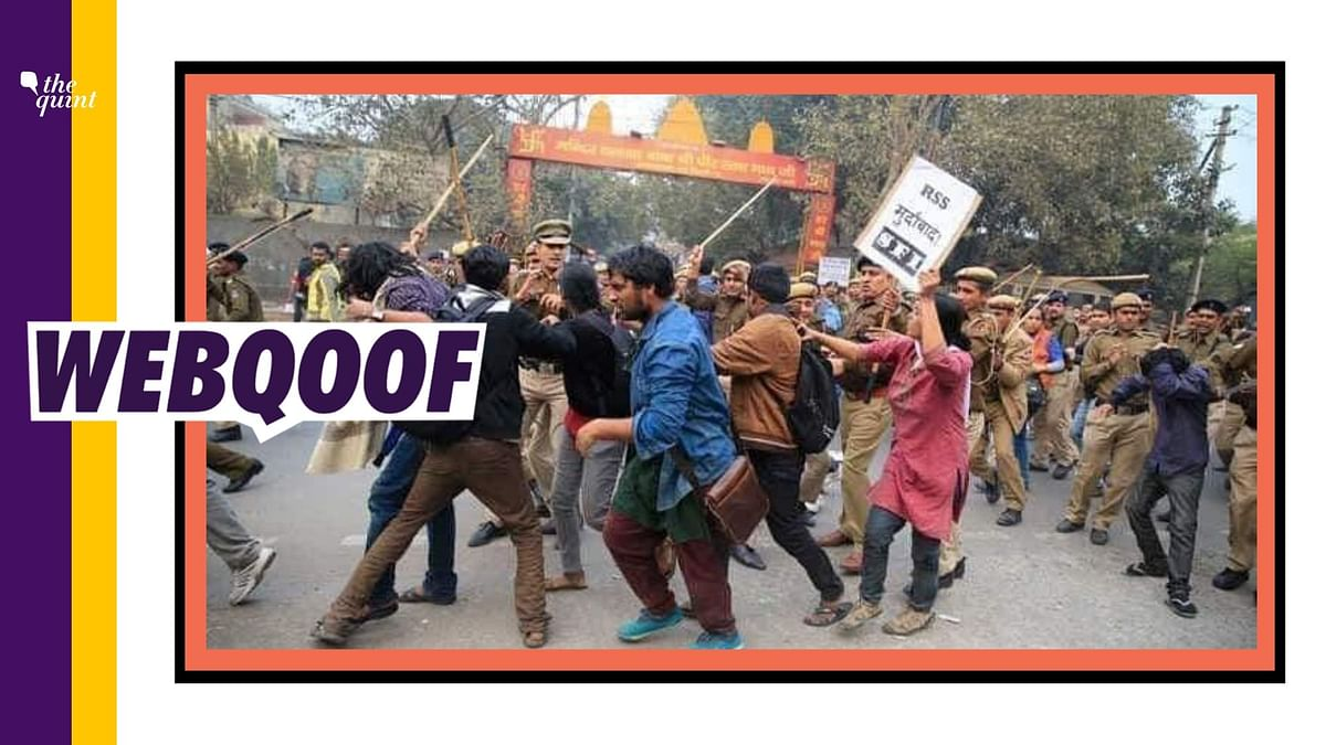 JNU Students With Anti-RSS Placards Not Part of Fee Hike Protest