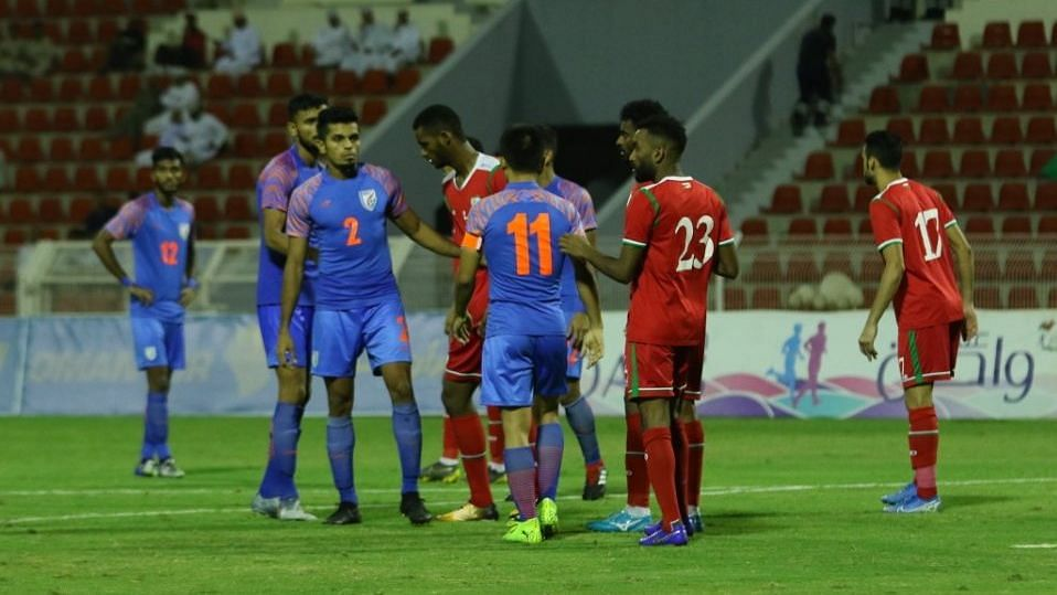 India Lose 0-1 to Oman, Virtually Out of Contention for WC Berth