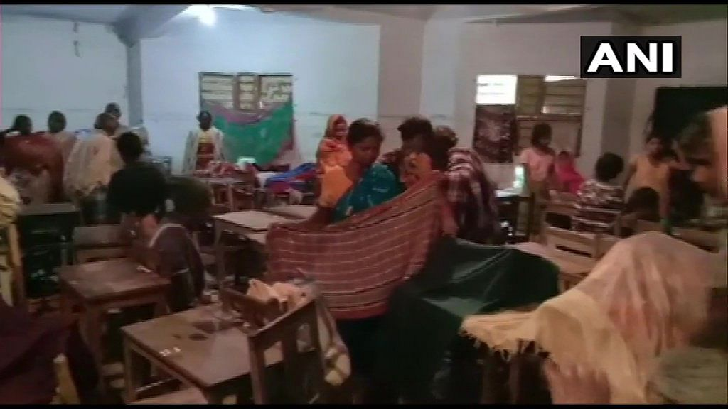 Villagers were put up at a temporary shelter home in Balasore, Odisha.