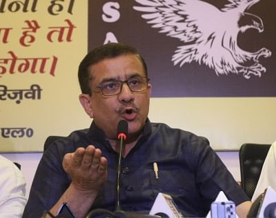 "New Delhi: Uttar Pradesh Shia Central Board of Waqfs chairman Syed Waseem Rizvi addresses a press conference to announce his new political party ""Indian Shia Awami League"" in New Delhi on May 14, 2018. (Photo: IANS)"