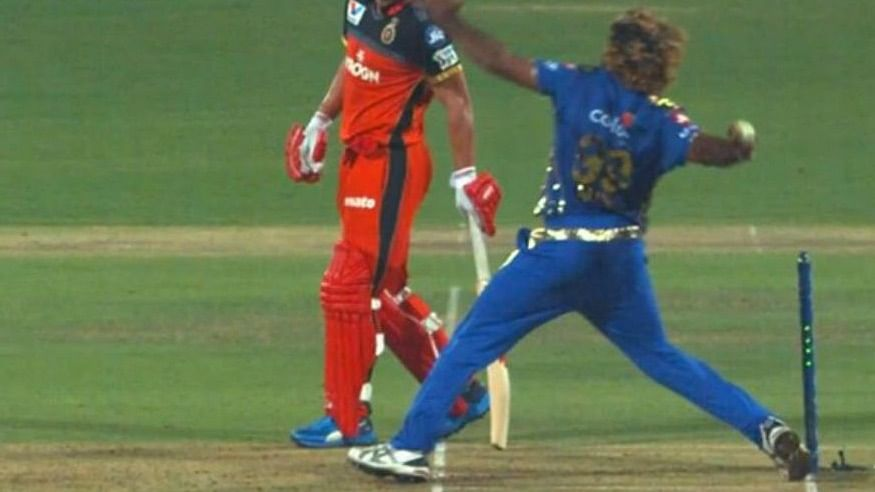 After the match was over, the screen showed Lasith Malinga overstepping off the final ball, much to the angst of RCB players and fans.