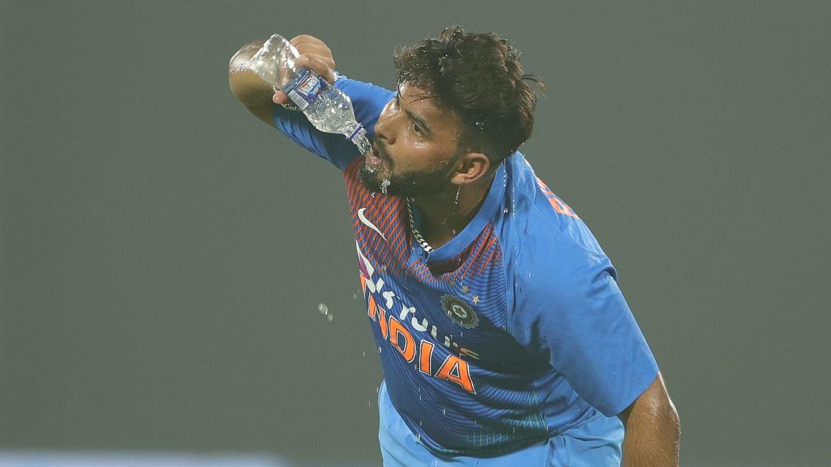 Rishabh Pant during the first T20 International between India and Bangladesh at Delhi.