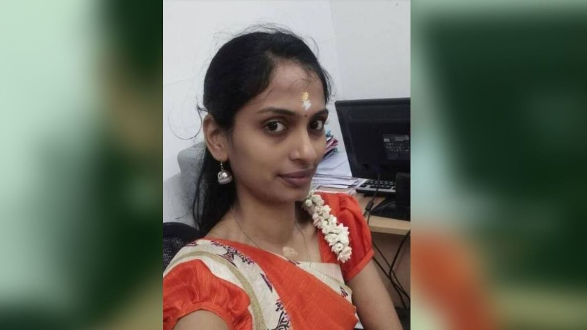 N Rajeswari's legs were crushed by a speeding truck when she fell off her scooter after an AIADMK flagpost erected on the side of the road tilted towards her.