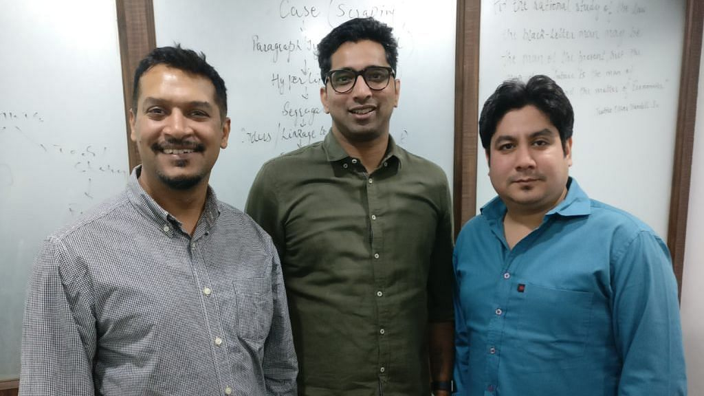 Rohit Shukla, Karan Kalia and Himanshu Puri (L-R) of LegitQuest team