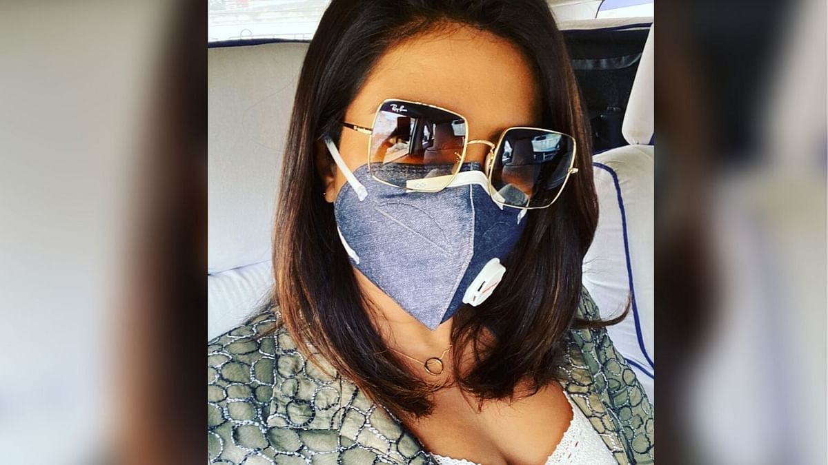 Priyanka Chopra wears a mask to highlight dire consequences of Delhi air pollution