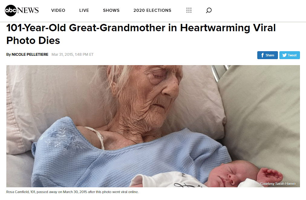 ABC News had published an article in 2015 that carried the same image.