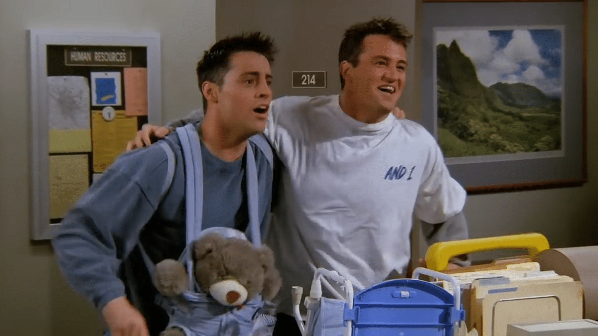 """<div class=""""paragraphs""""><p>Joey and Chandler. </p></div>"""