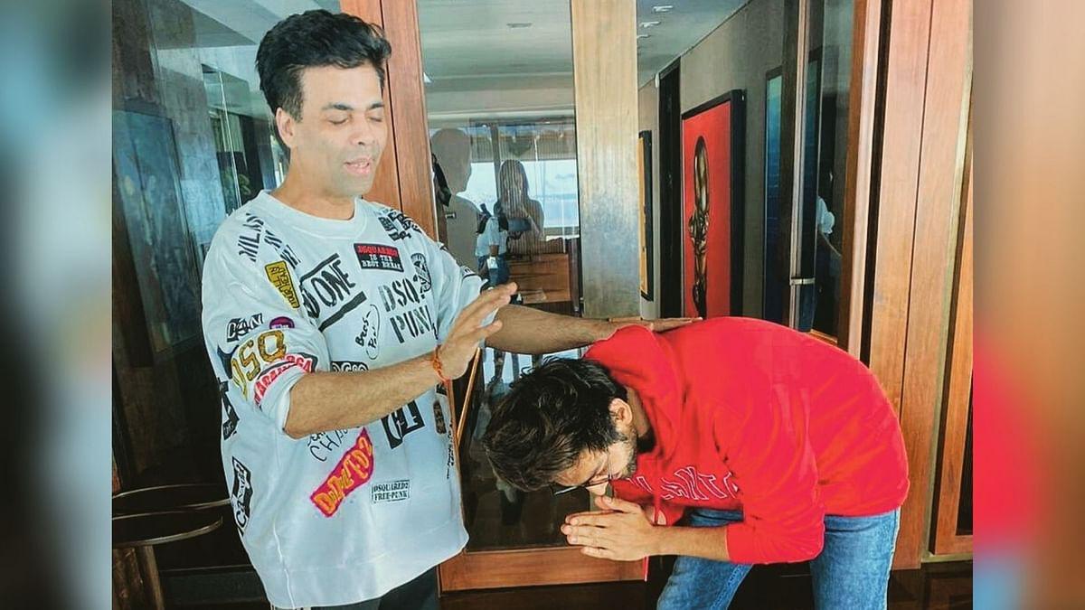 Ahead of 'Dostana 2' in Chandigarh, KJo Blesses Kartik Aaryan