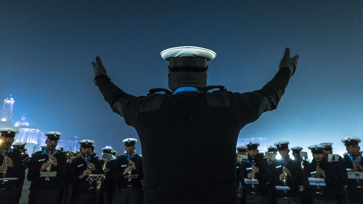 As part of the celebration, the sailors performed a drill and a sunset ceremony was conducted, which was followed by illumination by ships.