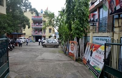 Guwahati: A view of the Assam Congress headquarters during counting of votes cast for the 2019 Lok Sabha elections, in Guwahati on May 23, 2019. (Photo: IANS)