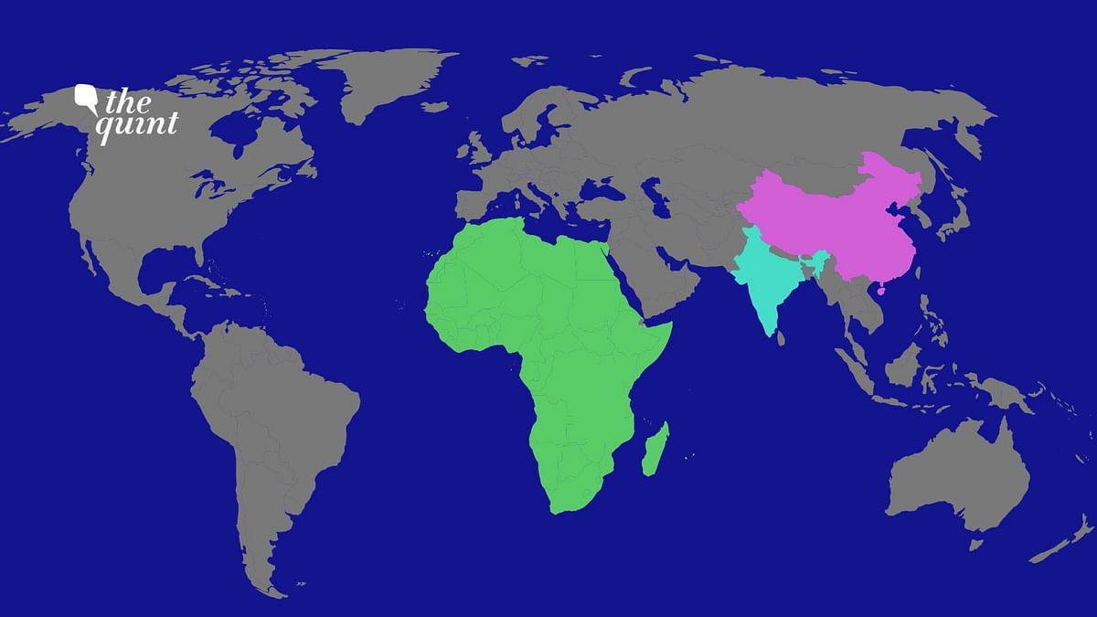 India, China and Africa's maps used for representational purposes.