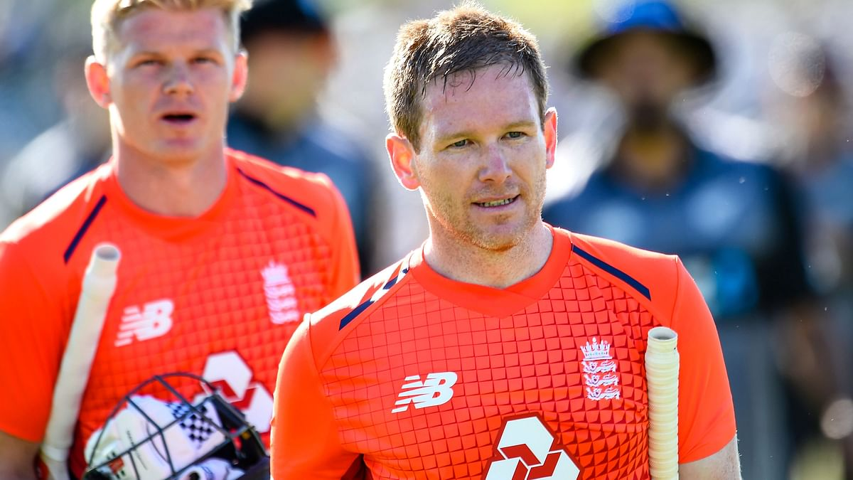 Eoin Morgan scored the fastest half-century for England as he reached the milestone in 21 balls.