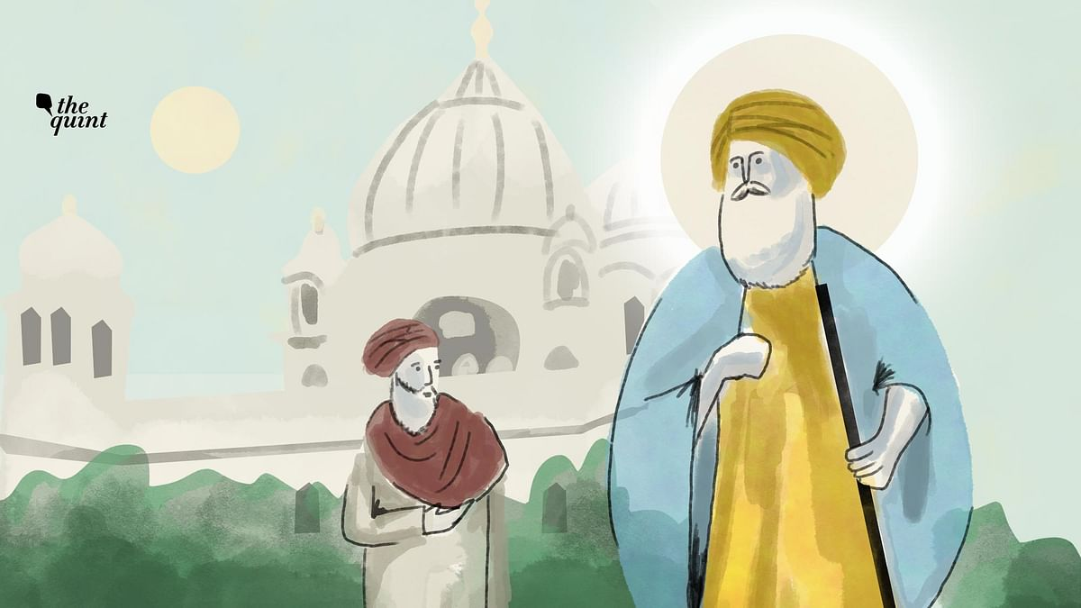 It was in Kartarpur that Guru Nanak met Bhai Lehna who went on to become his successor eventually. (Illustrations by Aroop Mishra/<b>The Quint</b>)