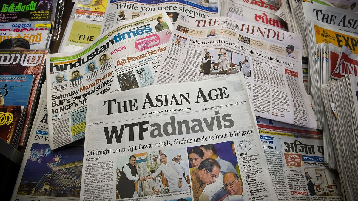 How Newspapers Covered the BJP's Maharashtra 'Coup'