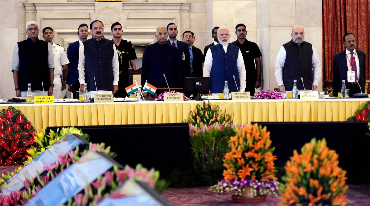 Prime Minister Narendra Modi met  governors and lieutenant governors on Saturday.