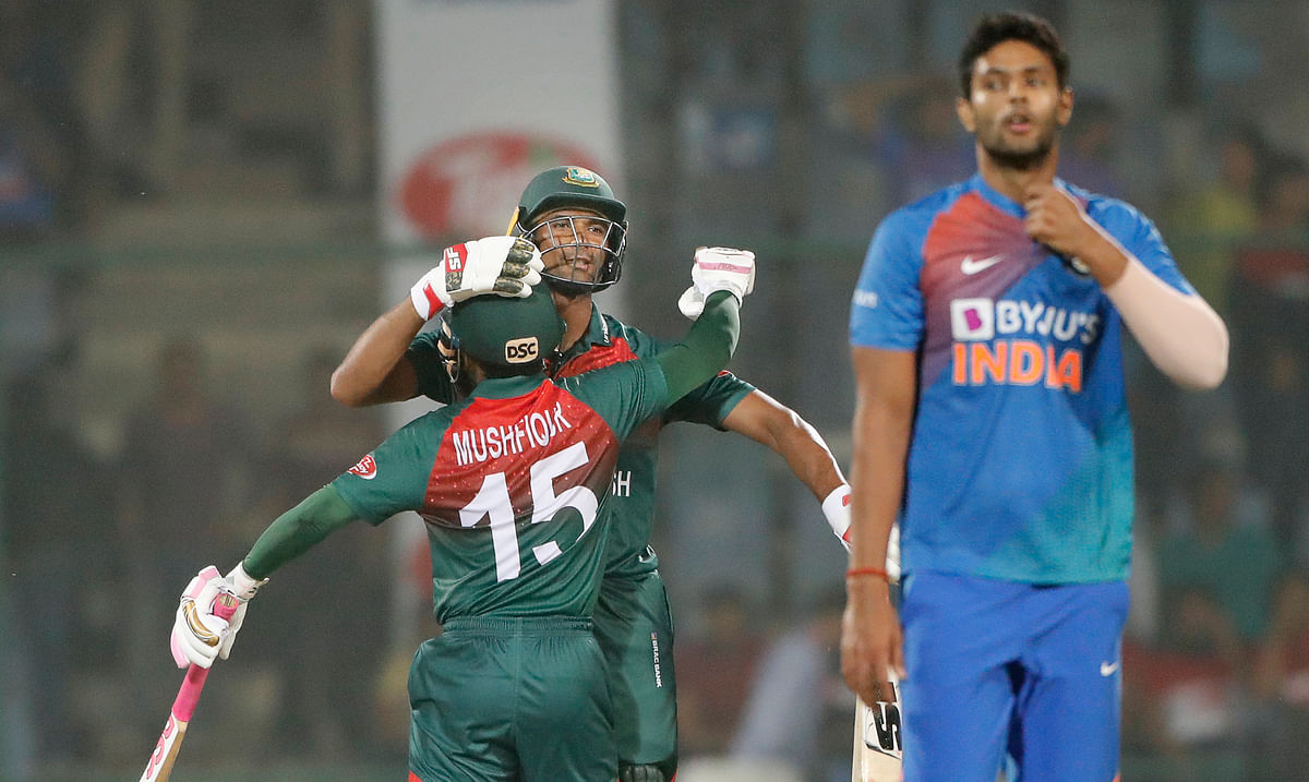 Bangladesh have registered their first victory in nine T20I matches against India.
