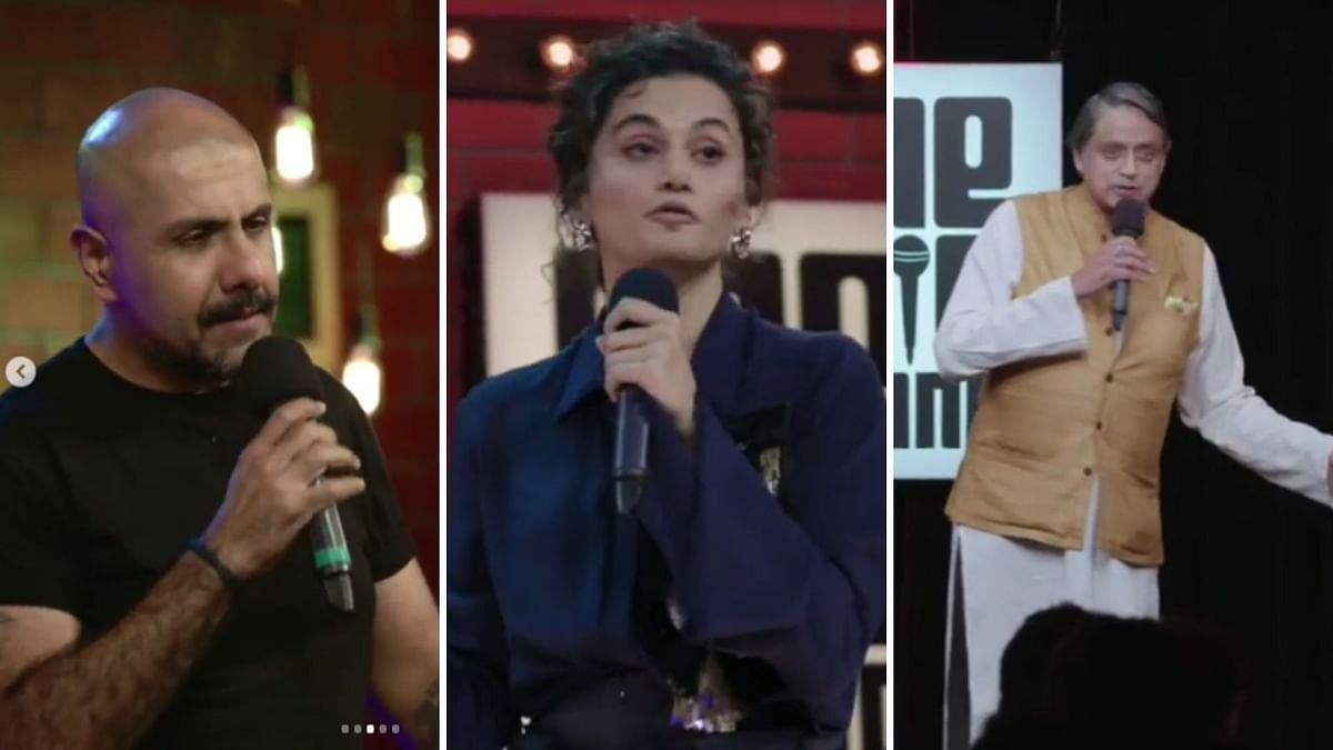 Watch: Taapsee, Tharoor Try Stand up Comedy in 'One Mic Stand'