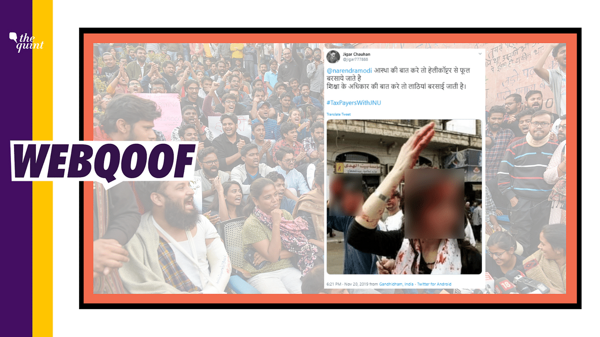 Old Photo of Woman Bleeding Claimed to Be From JNU Protest