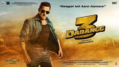 "Poster of Salman Khan starrer ""Dabangg 3""."