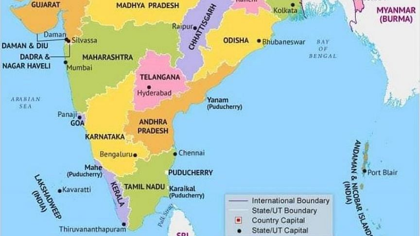 Andhra Capital Amaravati Missing in Latest India Map, Triggers Row