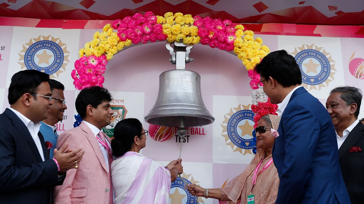 Bangladesh Prime Minister Sheikh Hasina and West Bengal Chief Minister Mamata Banerjee rung the customary Eden bell.