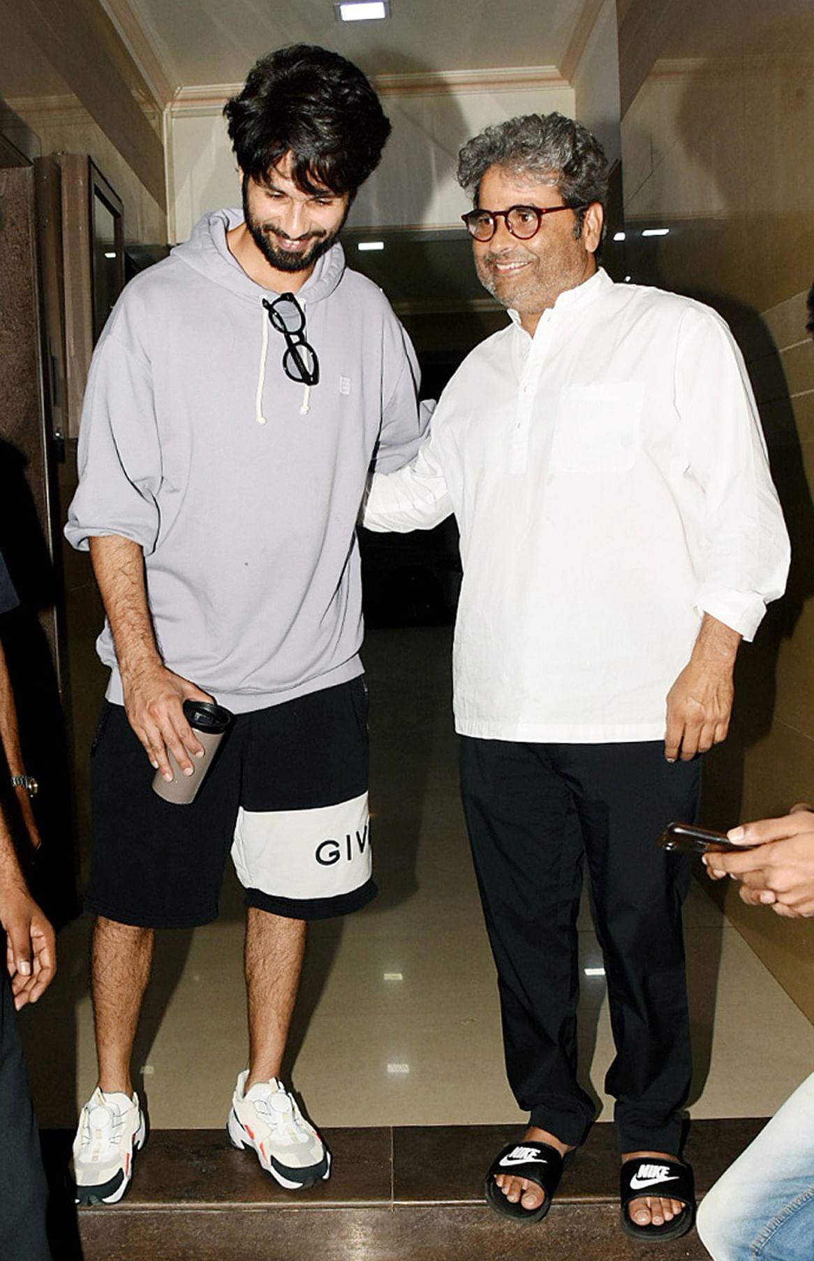 Shahid Kapoor and Vishal Bhardwaj.
