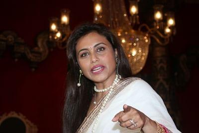 Mumbai: Actress Rani Mukerji at a Juhu Durga Puja pandal in Mumbai on Oct 5, 2019. (Photo: IANS)