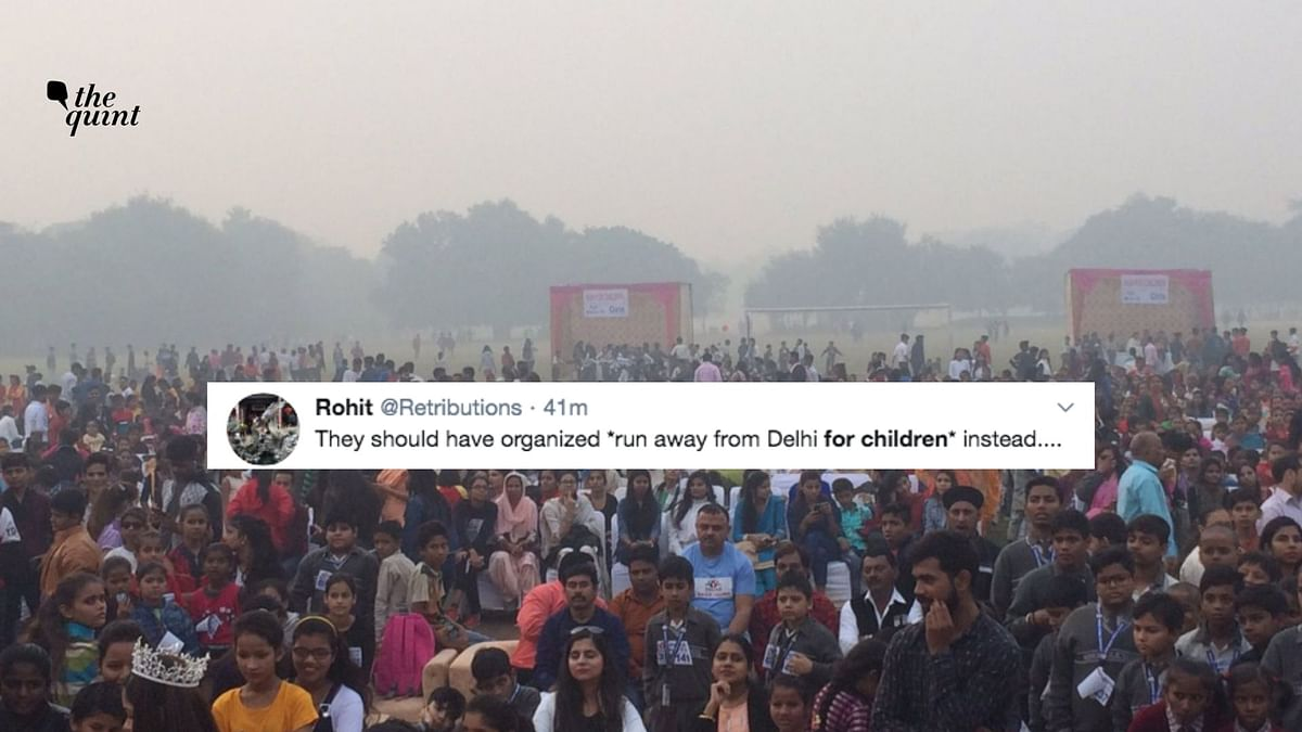 Schools Closed, But Kids Run Despite Smog? Twitter Calls Out Irony
