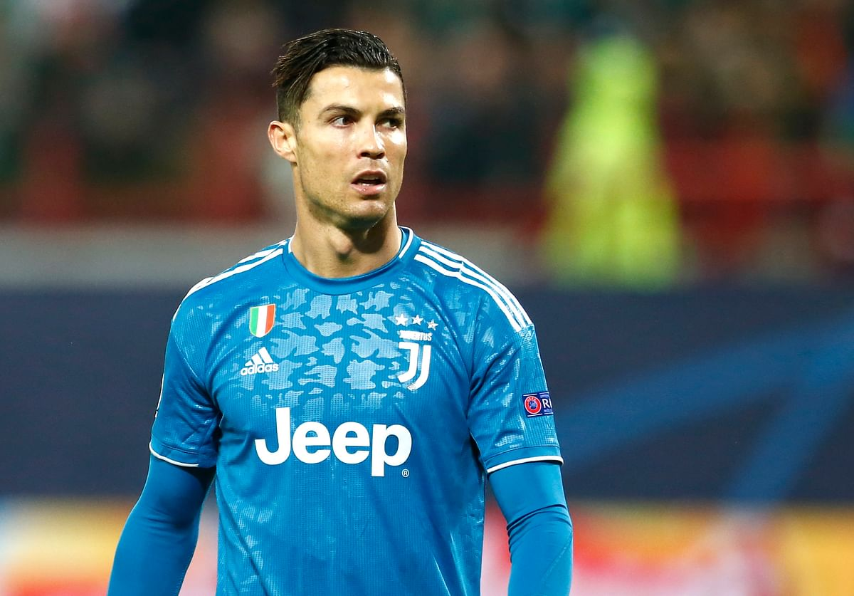 Juventus' Cristiano Ronaldo during the Champions League Group D soccer match between Lokomotiv Moscow and Juventus at the Lokomotiv Stadium in Moscow, Russia.