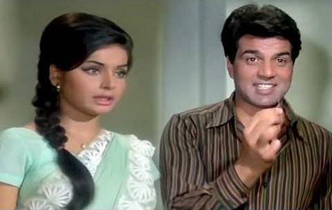 Raakhee and Dharmendra in <i>Jeevan Mrityu.</i>