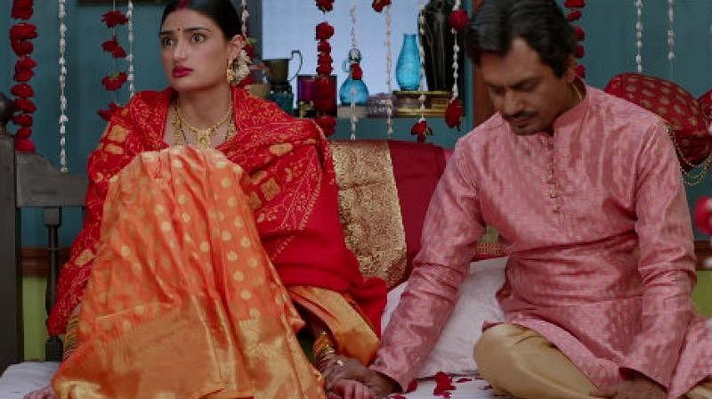 A still from <i>Motichoor Chaknachoor</i>.