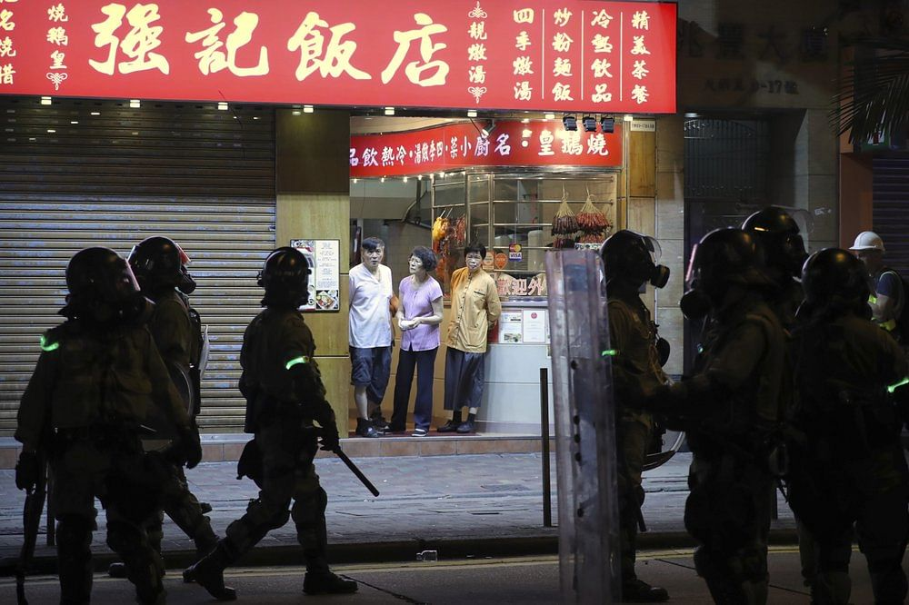 Over 200 people involved in violence, possession of weapons, damage to property and unlawful assemblies have been arrested said the Hong Kong police on Sunday.