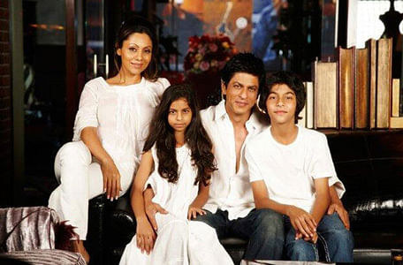 Shah Rukh and Gauri Khan with Aryan and Suhana.