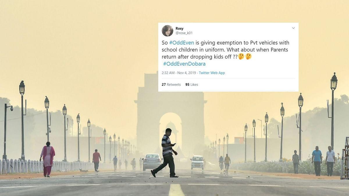 Delhi Air Pollution: Netizens React to Return of  #OddEven Scheme