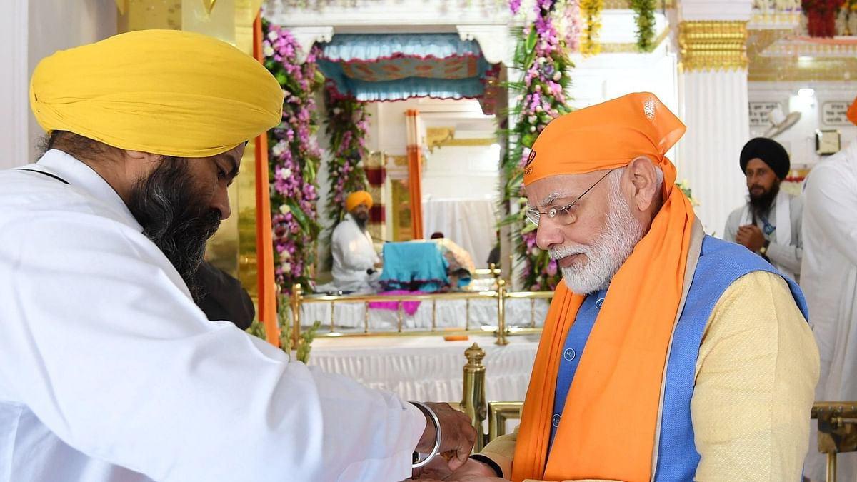 Prime Minister Narendra Modi lauded Sikhism founder Guru Nanak Dev for spreading the message of unity.