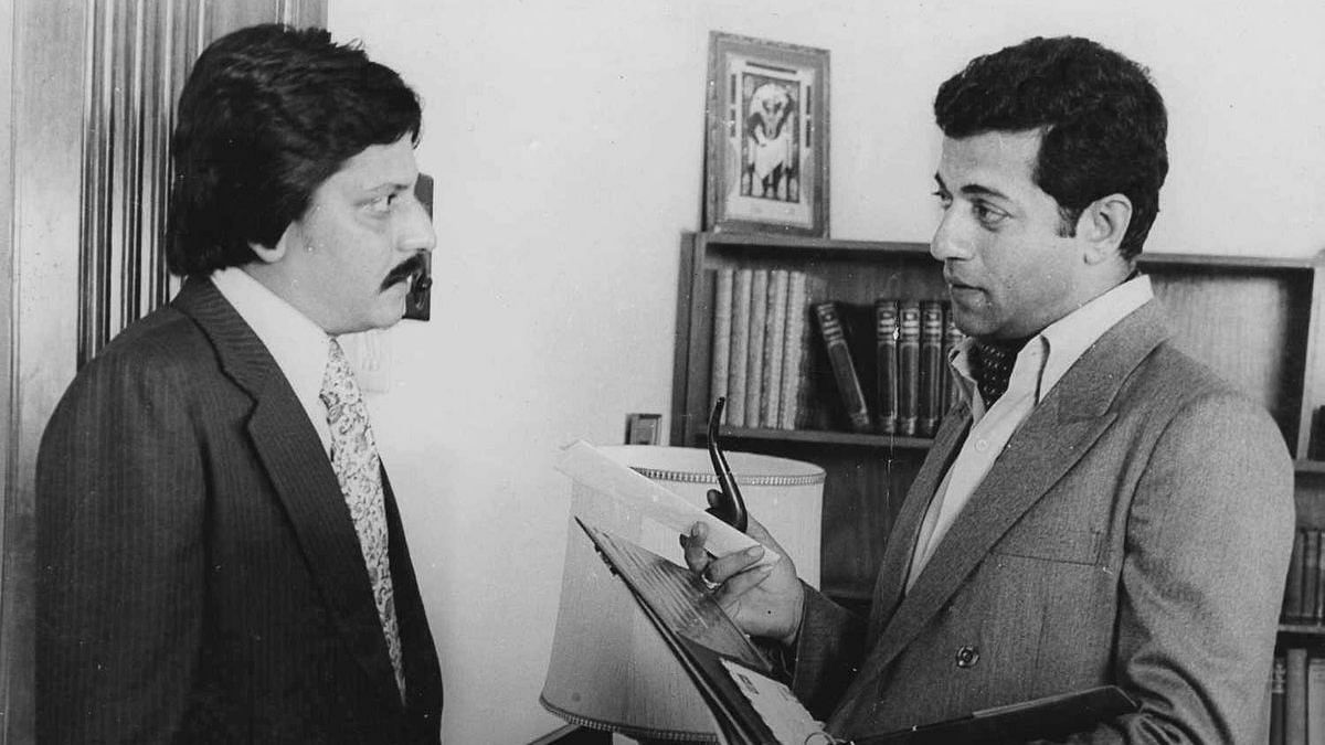 Amol Palekar with Girish Karnad.