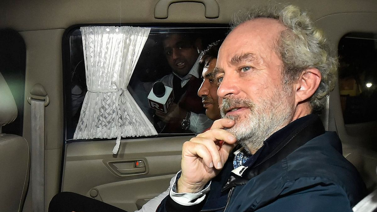 Agusta Westland scam accused middleman Michel  Christian at CBI headquarters in New Delhi, on early Wednesday, 5 December 2018.