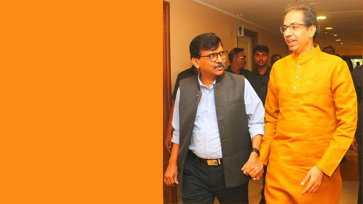 Shiv Sena leader Sanjay Raut and Maharashtra CM Uddhav Thackeray.