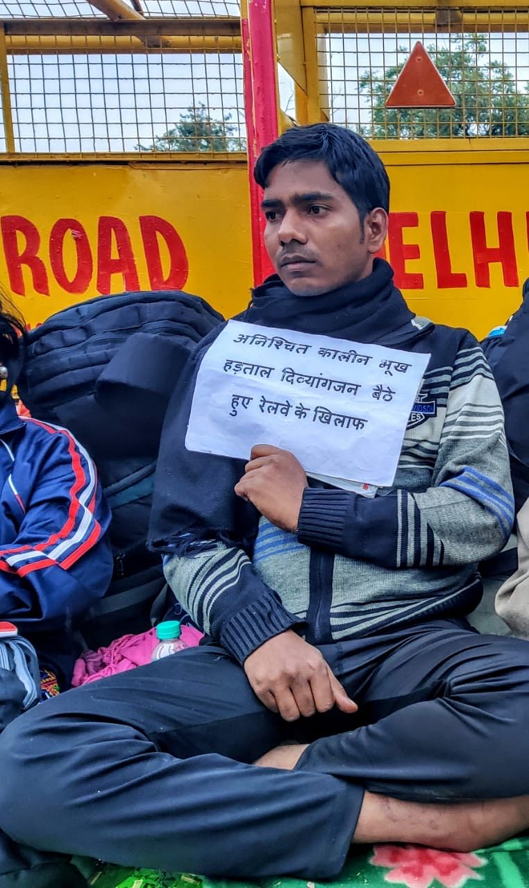 Mani Kumar, 25-year-old from Bihar, has been on a hunger strike for 3 days.